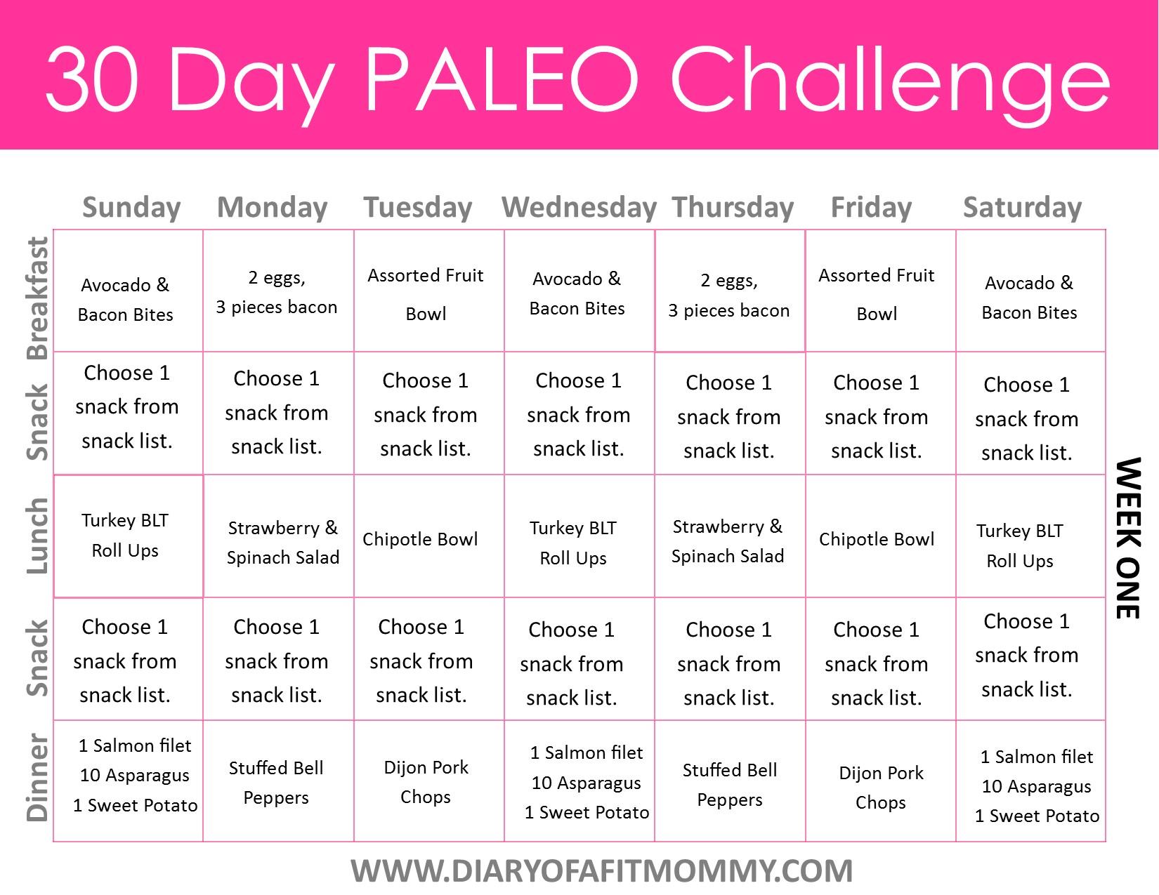 paleo diet week three